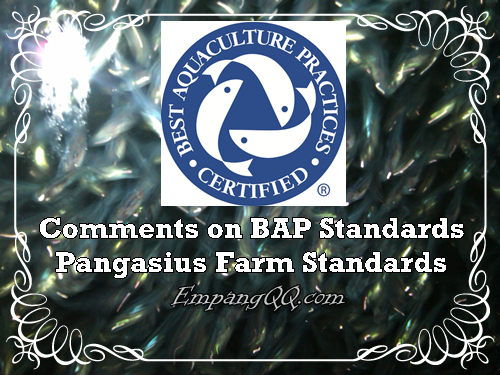 Comments on BAP Standards Pangasius Farm Standards
